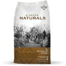 Diamond Naturals Real Meat Recipe Natural Dry Active Cat Food with Real Cage Free Chicken Protein 6lb
