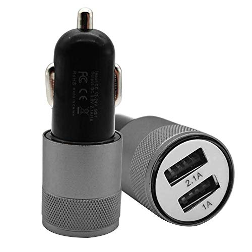 Polwer Car Charger, 5V 3.1A Mini Dual 2 Port USB Car Charger Adapter for Smart Mobile Cell Phone (Gray) by Polwer (Image #1)