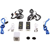 Fityle Mini Walkie Talkie Portable Radio Two-Way Radio Transceiver UHF 400-480MHz With Earpieces
