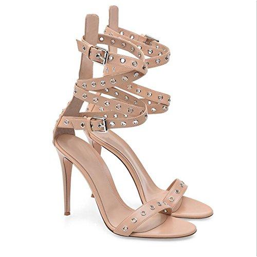 Shinik Unidos 35 Y 2018 Tacón Mujer De Alto tamaño Estados Sandalias Zapatos Desnuda Europa rOqRrY
