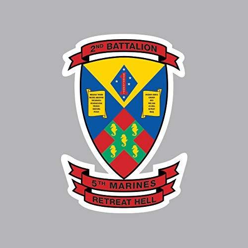 2nd Battalion 5th Marine Regiment USMC Outline Sticker Vinyl Decal Sticker Made in USA