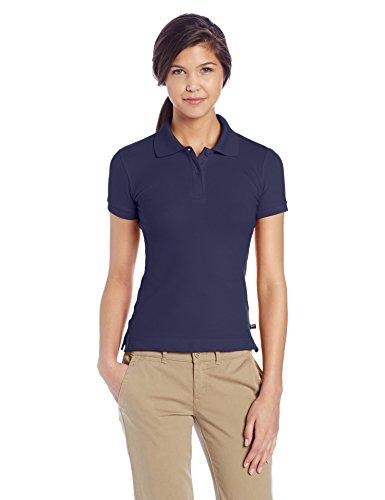 Lee Juniors Plus Size Stretch Pique Polo, Navy, XXX-Large