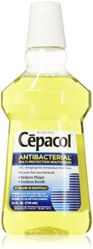 Cepacol Antibacterial Mouthwash, Gold, 24oz Pack of 5