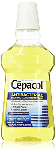 Cepacol Antibacterial Mouthwash, Gold, 24oz (Pack of 5)