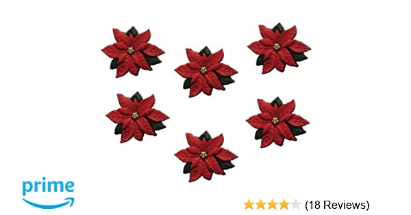 Dress it up buttons Red Poinsettias Christmas  Buttons 2951 Free P/&P