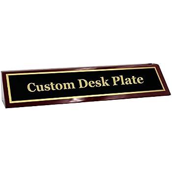 amazon com office desk name plate 1 2 glass like acrylic