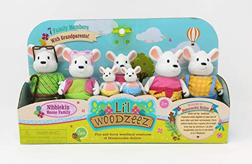 Nibble Mouse - Li'l Woodzeez - Mouse Family Set with Grandparents (7pc)
