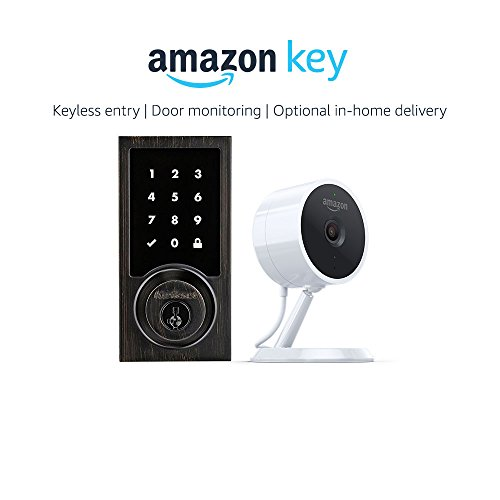 Kwikset 916 Smartcode Zigbee Touchscreen Smartlock Contemporary Style in Venetian Bronze + Amazon Cloud Cam, works with Amazon Key
