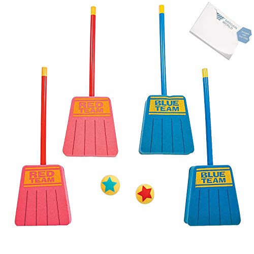 Bargain World Foam Broom Hockey Game (With Sticky Notes) -