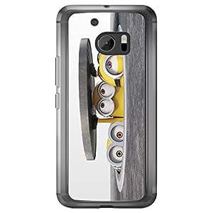 Loud Universe HTC M10 Files Minion 5 Printed Transparent Edge Case - Multi Color