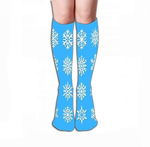 YILINGER Women Sport High Stockings Novelty Crew Socks 19.7