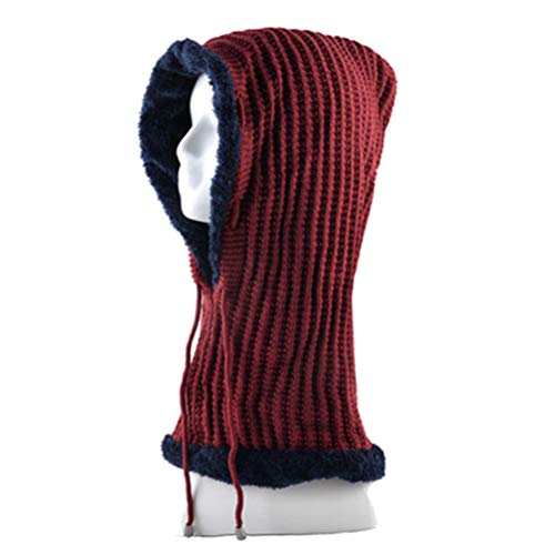 VIKOPER Unisex Winter Hats for Men Knitting Wool Bonnet Solid Color One-Piece Hip Hop Caps Plus Velvet Keep Warm Hat Women Beanies Gorro