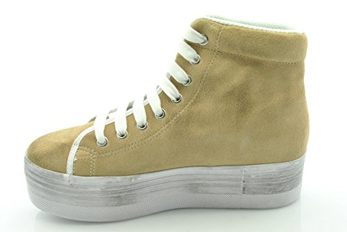 Jc Play by Jeffrey Campbell scarpe donna sneakers zeppa HOMG SUEDE WASH TG.37