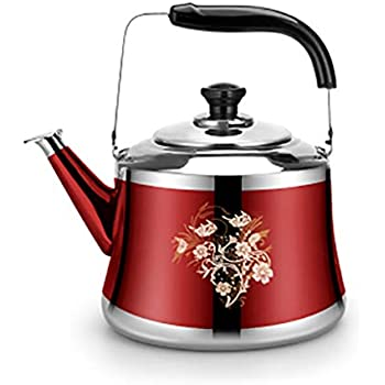 Color : Silver Stainless Steel Tea Kettle Stove Top With Anti-slip Handle Anti-hot Handle For Induction Cooker Universal