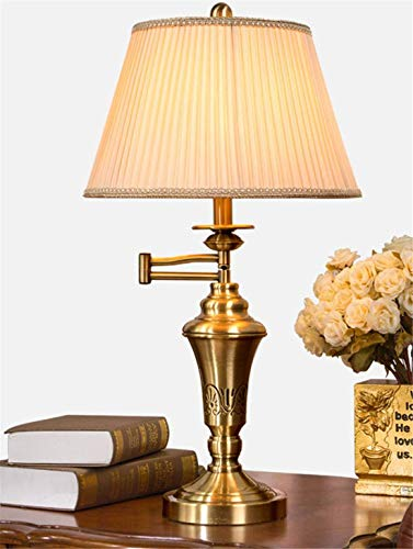 BOSSLV Simple Metal Copper Folding Lamp Led Lamp Reading Work Learning Piano Desk Lamp Bedside Desk Lamp 356 615Mm