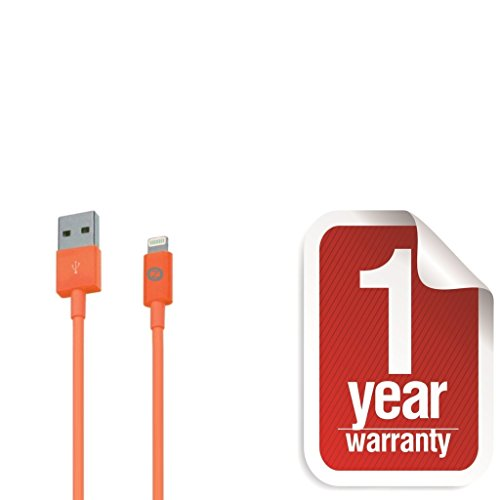 Zenotech USB Sync Data Charging Lightning 3 Ft Cable Compatible for iPhone 5 / 5C / 5S / 6 & 6 plus (IOS 8 Supported) iPad Mini iPod Touch 7th generation Orange