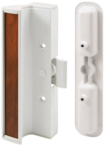 Prime Line C 1202 Sliding Door Handle Set, White