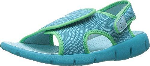 456acfd255a1 Galleon - New Nike Girl s Sunray Adjust 4 Sandal Still Blue Green 2