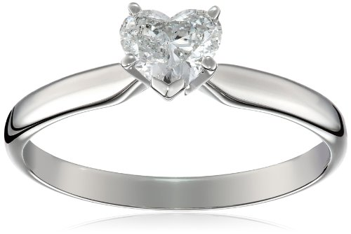 14k White Gold 1/2 carat Heart