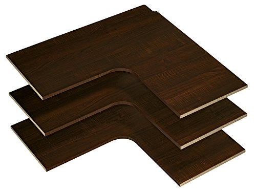 Easy Track Corner Shelves (3 Pack) 30''x30'' Closet Storage 30'' x 30'' Truffle