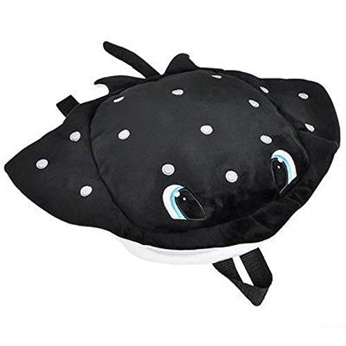 Travel Buddy Manta Ray Backpack, Black & White. One (Black Manta Halloween Costume)