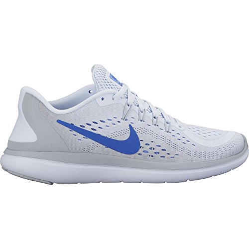 NIKE Women's Flex 2017 RN Running Shoe Football Grey/Hyper Royal/Wolf Grey Size 7 M US