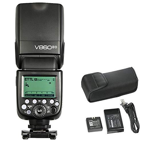 - Godox Ving V860II-O Pioneering Camera Flash Speedlite, TTL 2.4G Wireless HSS GN60 Speedlight Flash with Li-on Battery Powered for Panasonic Olympus DSLR Cameras