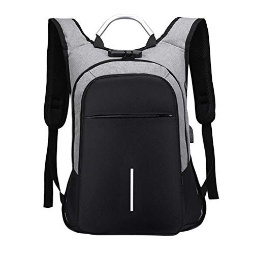 - Outdoor USB Charge Camping Backpack Lock Shoulder Hiking Business Travel Bag