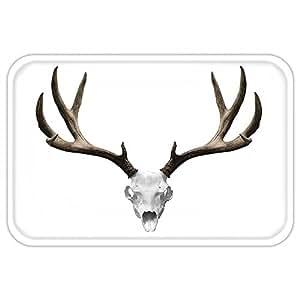 Kisscase Custom Door MatAntlerDecor A Deer Skull Skeleton Head Bone Halloween Weathered Hunter Collection