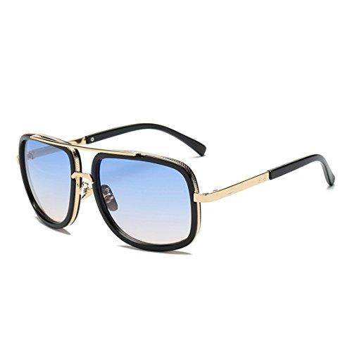 Fashion Sunglasses Mose Quadrate Metal Eye Mirrored Metal Frame Classic Sunglasses - Headache Sunglasses Polarized