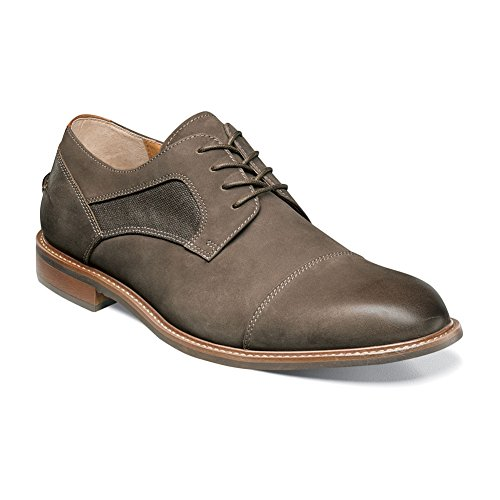 Flors Mens Frisco Cap Toe Oxford Taupe Nubuck