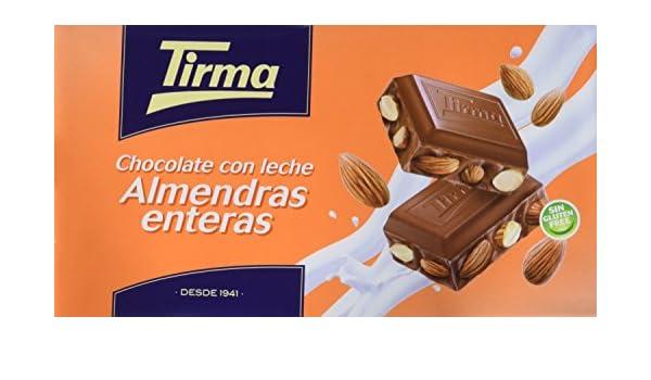 Tirma Chocolate con Leche y con Almendras Enteras - 2 Paquetes de ...