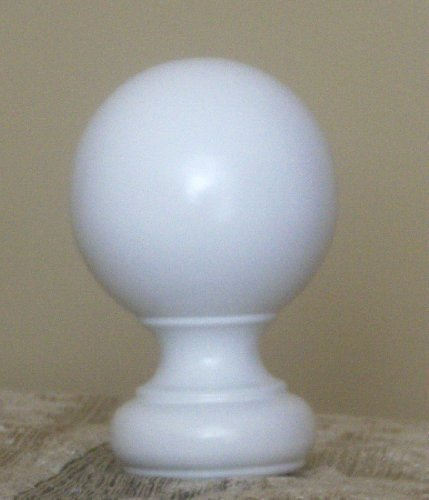 Ball Wood Finial in Mahogany finish for a 1-3/8 dowel rod - 2/pack by Kirsch - Mahogany Wood Finial