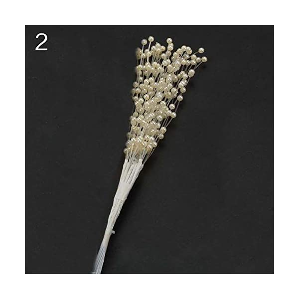 10-Stems-Faux-Pearl-Beads-Spray-Wedding-Bride-Flower-Bouquet-Home-Table-Decor-liyhh