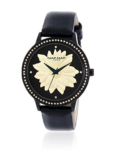 Naf Naf Reloj de cuarzo Woman Naf Naf D Ipb/Noir Flower/Fleur Black Ivory/Noir Ivoire 35 mm: Amazon.es: Relojes