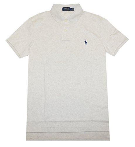 Ralph Lauren Polo Men Medium Fit Interlock Polo Shirt (XXL, American Heather) (Best Price Embroidered Polo Shirts)