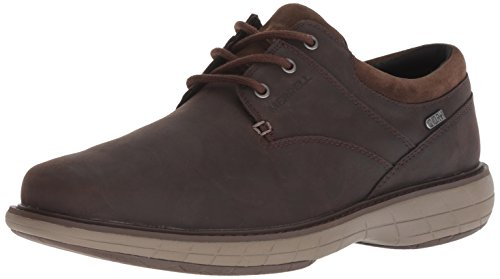 Slate Lace - Merrell Men's World VUE LACE Waterproof Oxford, Black Slate, 10 M US