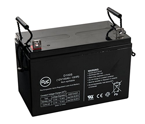 National C100A 12V 100Ah Wheelchair Battery - This is an AJC Brand Replacement by AJC Battery