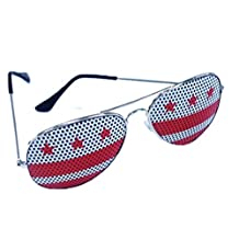 District of Columbia Washington DC Flag Aviator Sunglasses