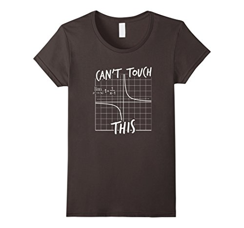 Women's Can't Touch This Equation Funny Math T-Shirt Medi...