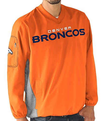 Denver Broncos NFL Men's G-III Sports by Carl Banks Gridiron V-Neck Pullover Jacket (Large)