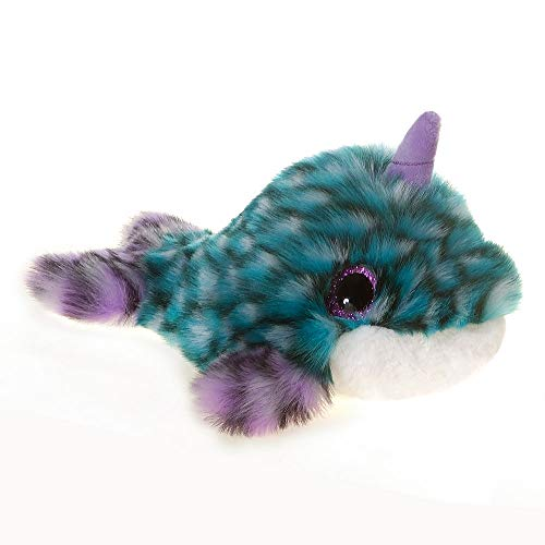(Fiesta Toys Fancies Teal and Purple Narwhal Underwater Sea Creature Plush Stuffed Animal Toy - 10)