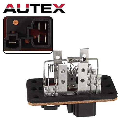AUTEX HVAC Manual Blower Motor Resistor RU446, 973-014, 4P1400; JA1538; RU1139 Replacement for 1991 1992 1993 1994 1995 1996 1997 1998 1999 2000 2001 2002 2003 Ford Escort 1991-1999 Mercury Tracer - Mercury Tracer 1991 Ford Escort