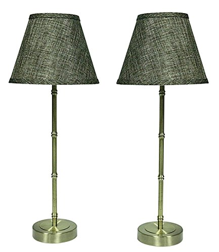 Urbanest Set of 2 Antique Bronze Bamboo-style Table Lamps with - Bamboo Table Antique