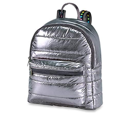 Top Trenz Mini Puffer Backpack (Gunmetal /Stars)