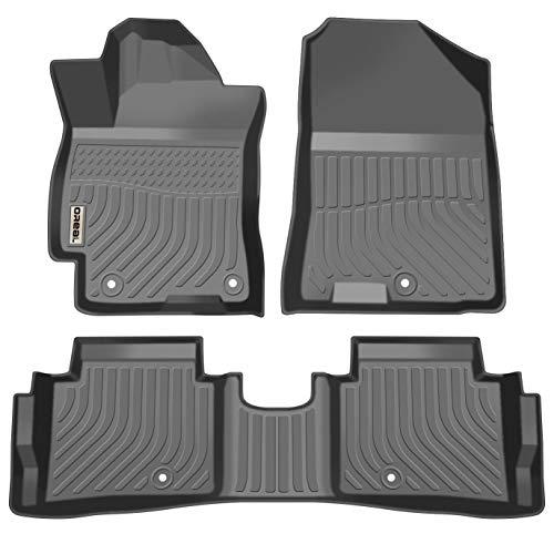 orealtrend Black TPO Floor Mats Liners for Hyundai Elantra Sedan 2017 2018 2019 Heavy Duty All Weather Guard Front and Rear Car Carpet-Custom Fit-Tough/Durable/Odorless