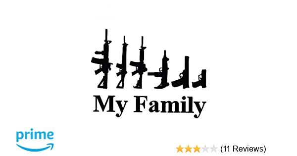Fashion MY FAMILY Gun Bumper Funny Laptop Car Sticker Truck Decal Vinyl Decor