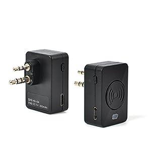 TWAYRDIO Two-Way Radio Wireless Earpiece Walkie Talkie Headset with PTT MIC for Motorola 2 Pin GP88S GP88 GP3188 CP040 CP200 CT150 P040 PRO1150 SP10 XTN500(2Pack)