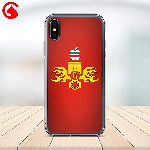 (CatixCases Racing Race Pistons Car Personalized Phone Case Cell Plastic Сlear Case for Apple iPhone X/XS/XR/XS Max / 7/8 / plus iPhone 6 / 6S plus Protector Protective Cover Art Design)