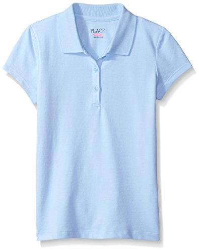 The Children's Place Big Girls' Uniform Short Sleeve Polo, Daybreak 3378, Large/10/12 ()